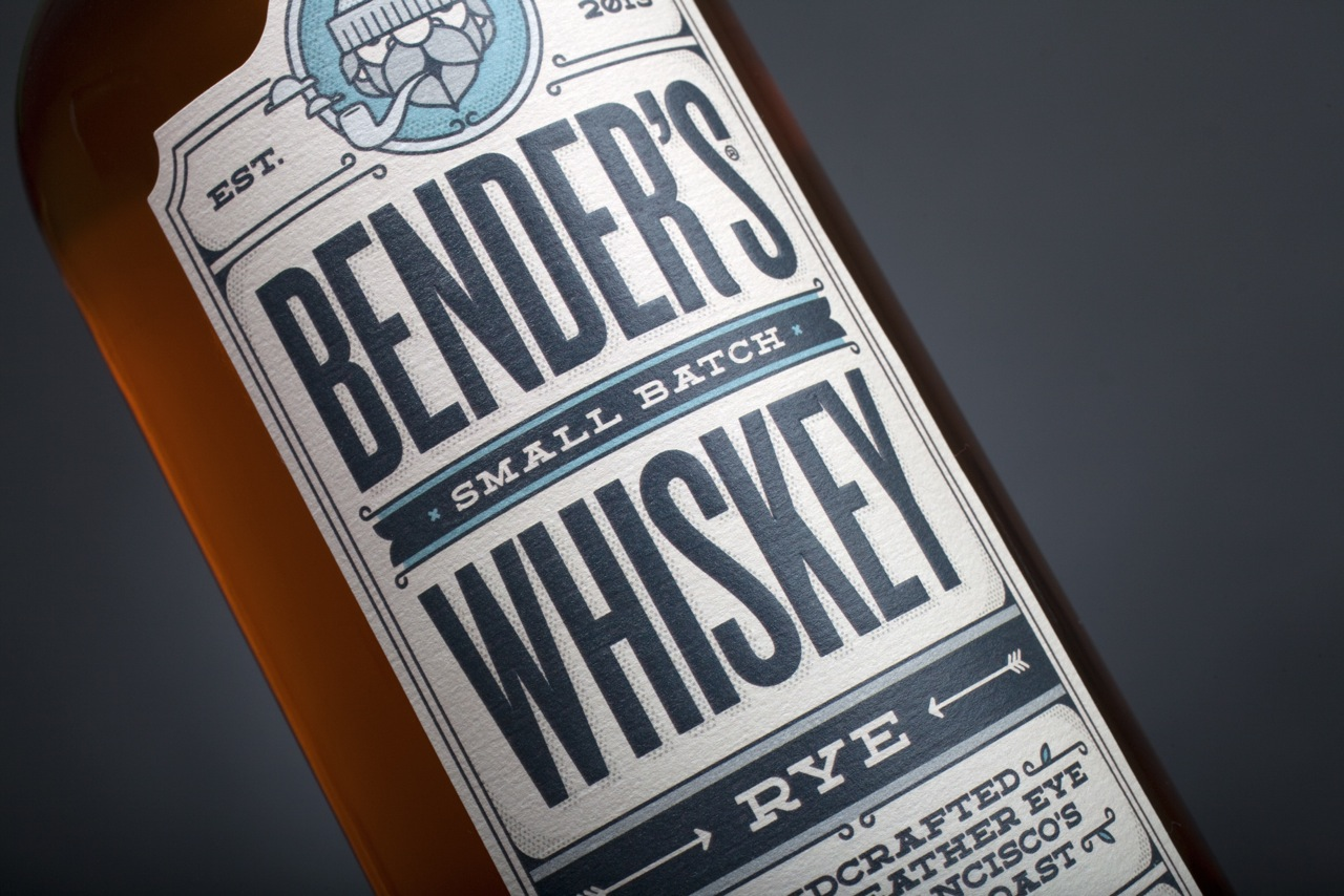The new bottle designed by Carl Bender. Photo: Courtesy of Bender's Rye