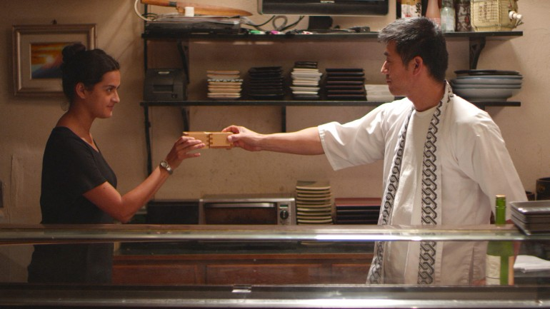 "Movie still from ""East Side Sushi"" starring Dianna Torres as a single mom striving for sushi-making dreams. Photo courtesy of the film"