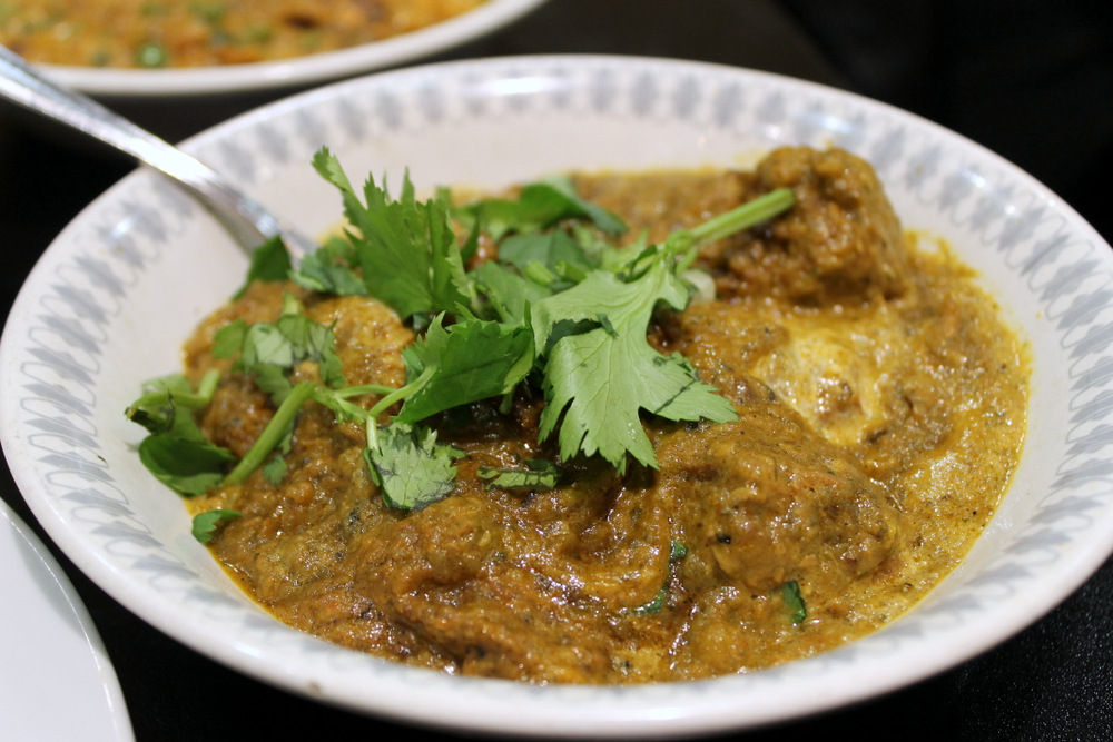 Haider's saag gosht blends spinach with tender braised lamb. Photo: Kate Williams