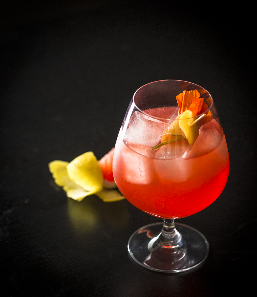 The European (Campari, grapefruit, lemon, seltzer and gum). Photo: Eric Wolfinger Photography.