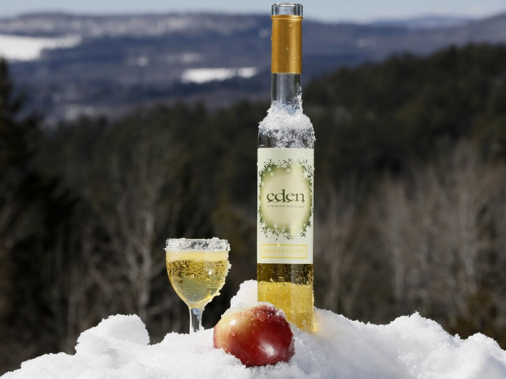 The icy winter is just what's needed for tasty ice cider. Photo: Herb Swanson/NPR