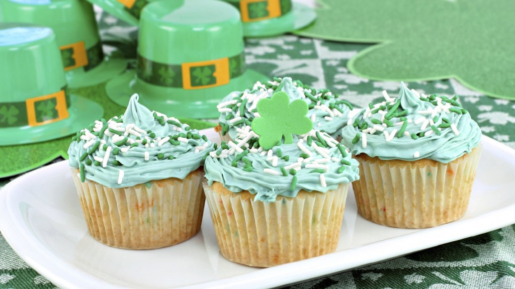 Green cupcakes may mean party time in America, but in Ireland, emerald-tinged edibles harken back to a desperate past. Photo: Ro Jo Images/iStockphoto