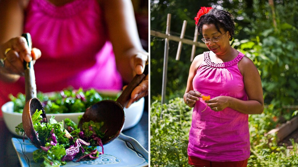 JuJu Harris is the author of The Arcadia Mobile Market Seasonal Cookbook. A former recipient of government food assistance, she now teaches healthy eating skills to low-income families in D.C. Photo: Courtesy of Molly M. Peterson