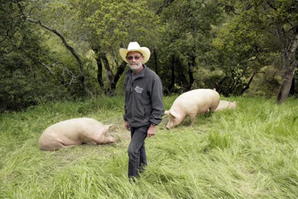 Devil's Gulch Ranch Brings Locally-Raised Meats Including Rabbit to the Ferry Plaza Farmers Market