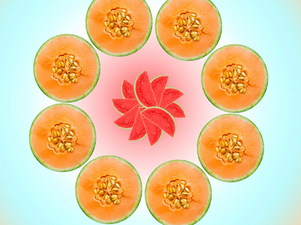"Relax with Food Porn Index's ""melon meditation."" Om ... Photo: Courtesy of Bolthouse Farms"