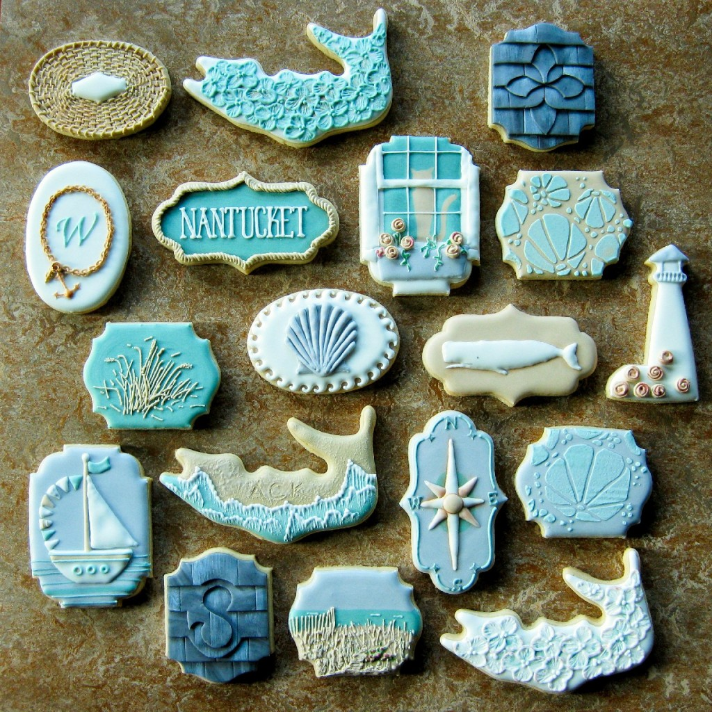 Rebecca Weld (aka The Cookie Architect) nabbed the Oscar of the cookie world for this series of Nantucket-themed biscuits. Photo: Courtesy of Rebecca Weld via Cookie Connection