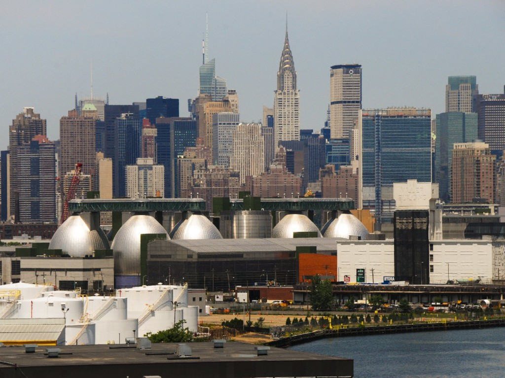 There are eight digester eggs. They're made of steel, and each contains millions of gallons of black sludge. Photo: Courtesy of New York City Department of Environmental Protection