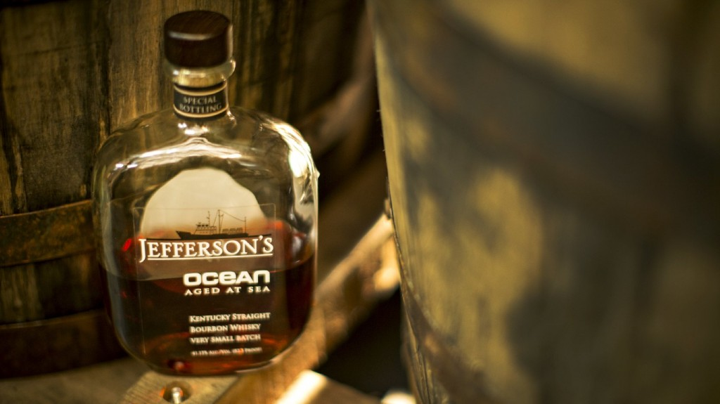 Jefferson's Ocean bourbon is aged on the high seas, a technique that takes advantage of basic physical chemistry. The bottles sell for $200 a piece. Photo: Courtesy of OCEARCH