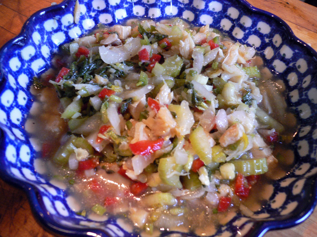 Nina's Cruzan Pickled Salt Fish. Photo: Tom Gilbert/NPR