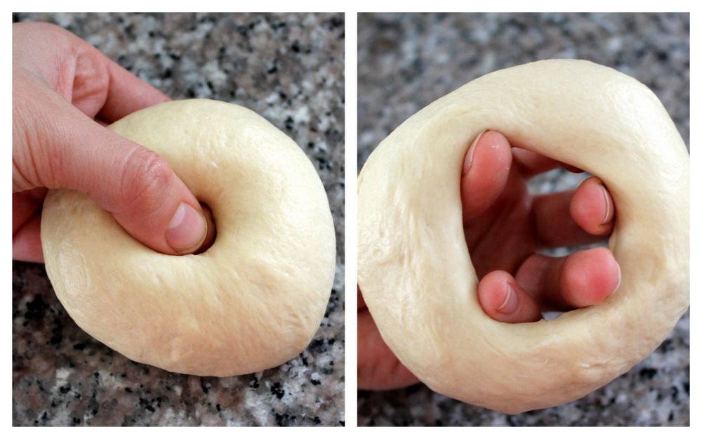 I prefer the poke method for shaping bagels. Photos: Kate Williams