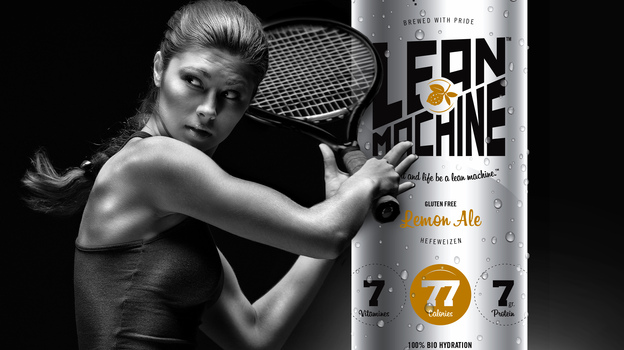 "An ad for Vampt's Lean Machine ""recovery ale,"" which will be marketed as a sports drink later this year, if funding allows. Researchers say drinking beer after working out has some advantages, but there are big caveats. Photo: Courtesy of VAMPT"