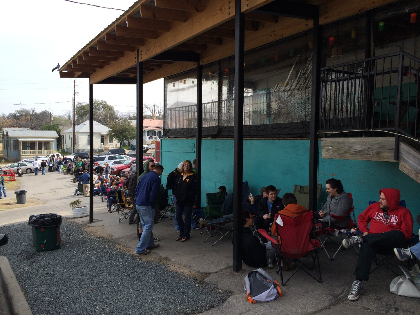Line at Franklin's BBQ in Austin, TX