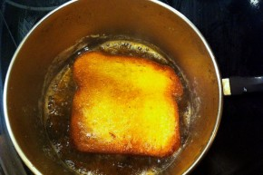 We recommend pan-frying to get as much butter as possible into a piece of toast. Photo: Eliza Barclay/NPR