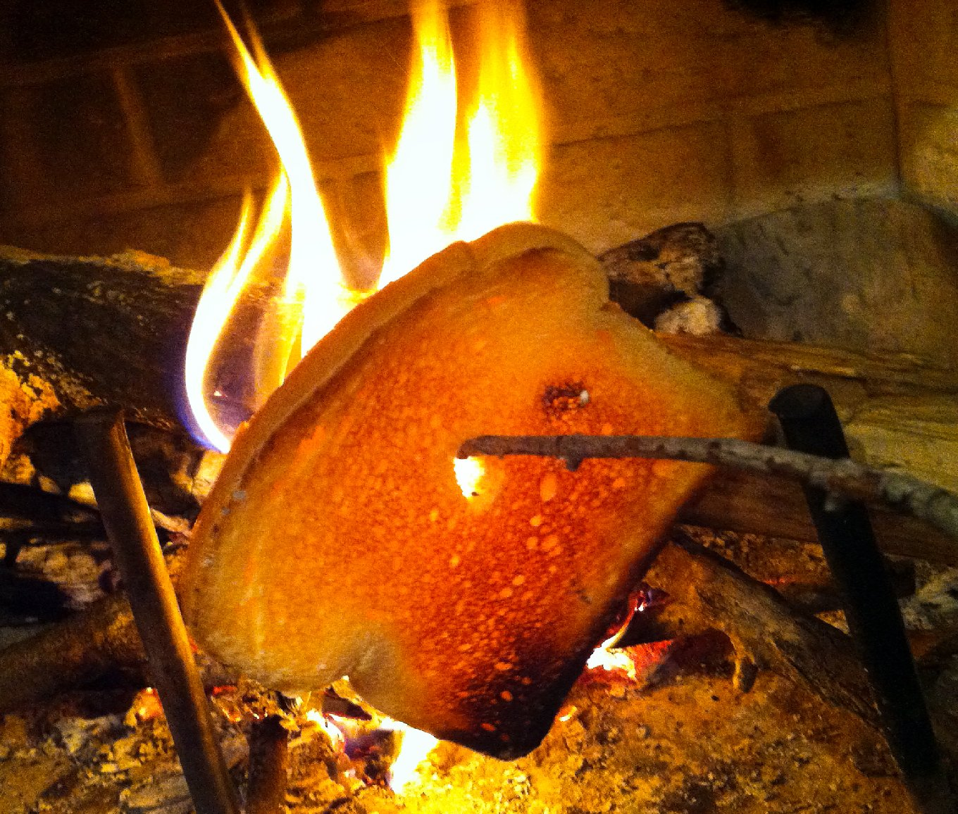 Fire-roasted toast will satisfy the smoke fiends at the breakfast table. Photo: Eliza Barclay/NPR
