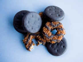 Could you possibly eat just one Thin Mint or Samoa? Photo: Andrew Prince/NPR