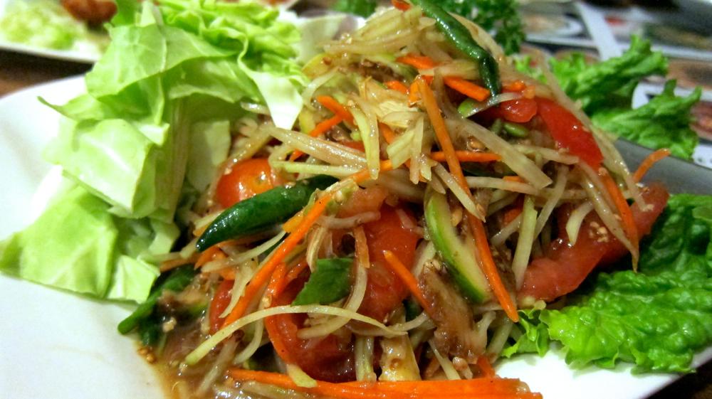 Green papaya salad, Lao style