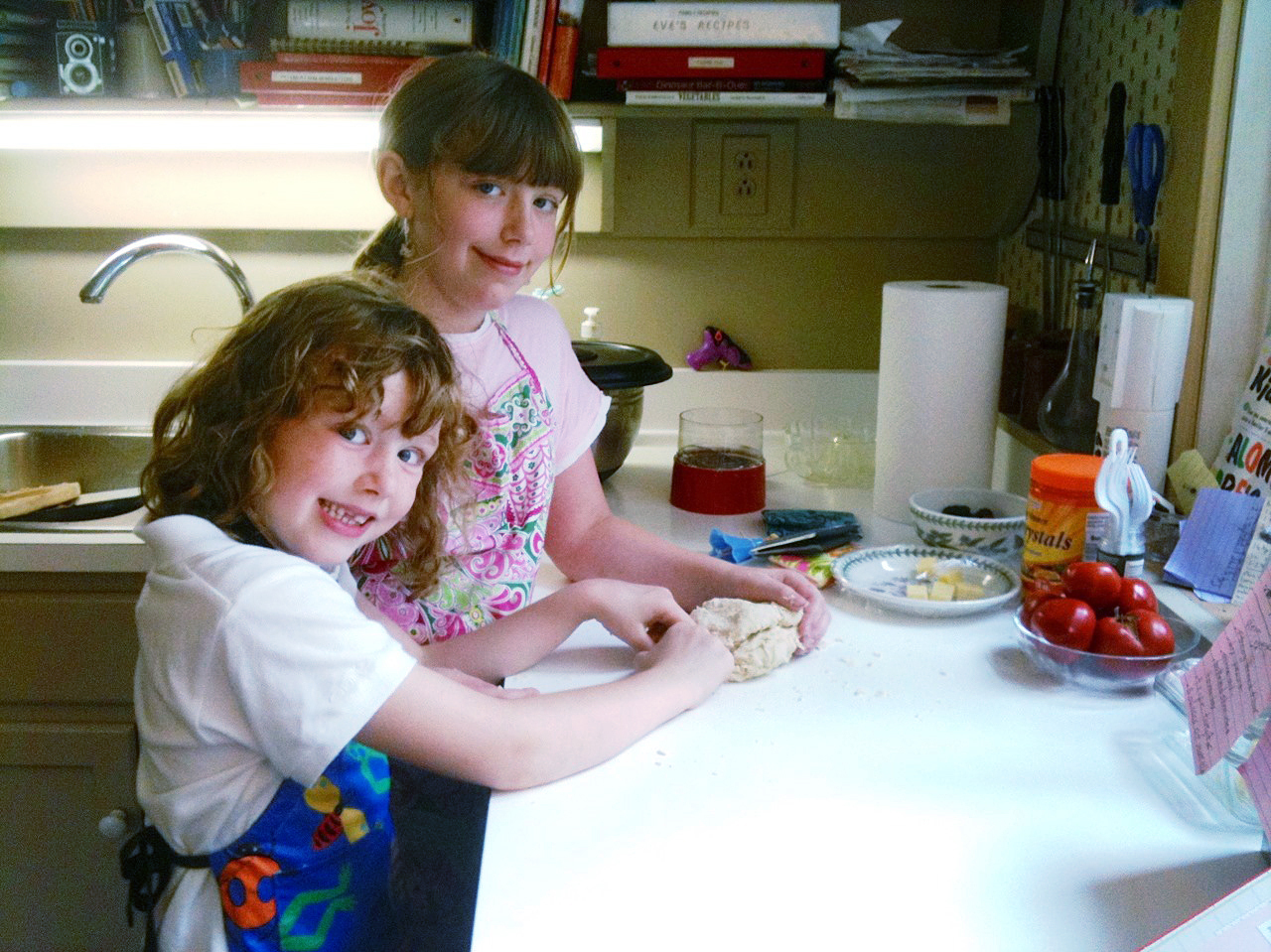 "Eve Schaub says her daughters were ""less than enthusiastic"" at first about the family's no-sugar-for-a-year experiment. But over time they learned to enjoy sugar-free baking. Photo: Courtesy of Eve O. Schaub"