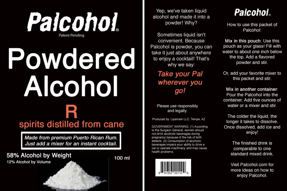 Is liquid alcohol inconvenient? The federal government has approved seven labels of Palcohol, including this one for a powdered shot of rum. Photo: Alcohol and Tobacco Tax and Trade Bureau