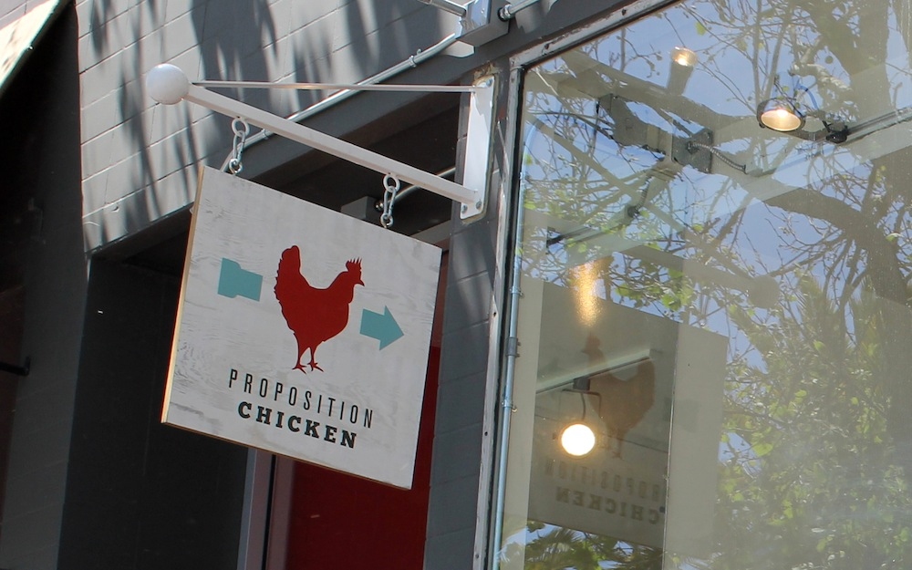 Proposition Chicken is located on a busy block of Market Street in between Octavia and Gough in Hayes Valley. Photo: Kate Williams