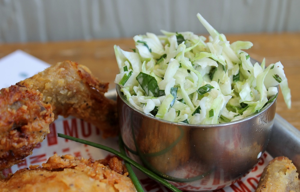 The spicy coleslaw was the highlight of the meal. Photo: Kate Williams