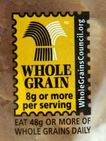 This Whole Grain stamp started showing up on products in 2005. Photo: Meg Vogel/NPR