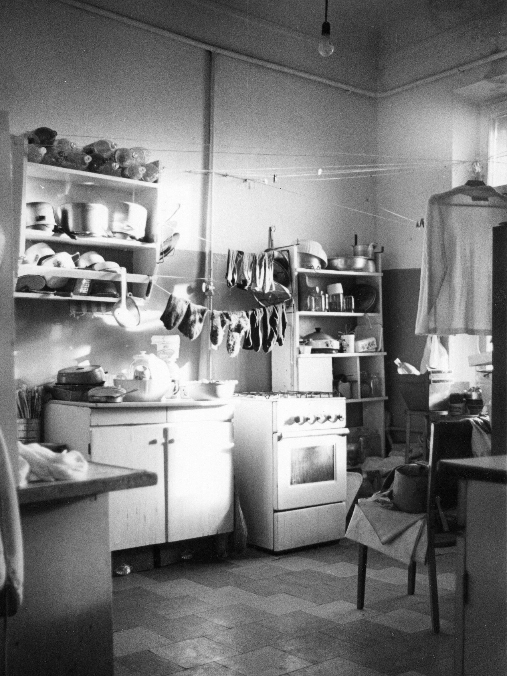 Laundry drying in a communal kitchen in Moscow. Photo: Courtesy of European University, St. Petersburg, Russia, Colgate University and Cornell University