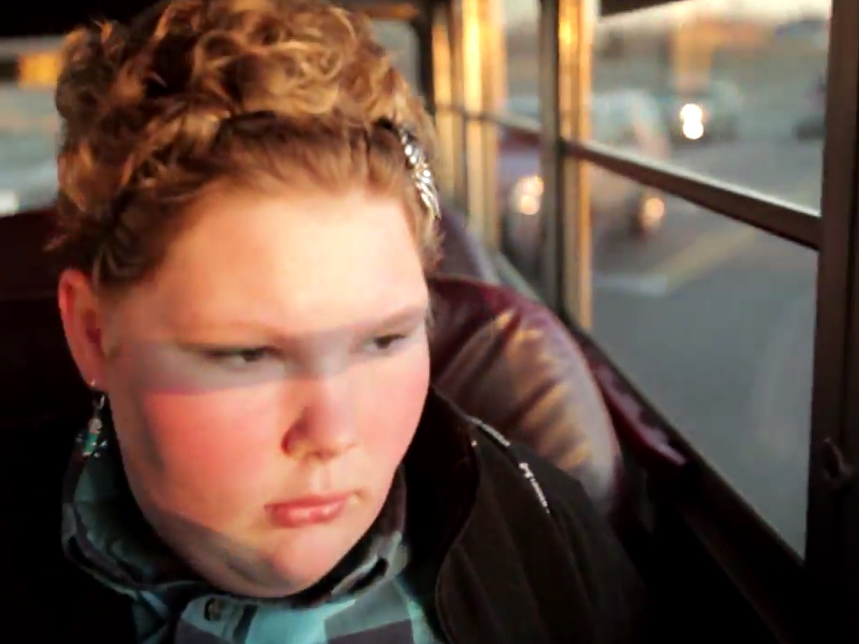 Maggie Valentine, 12, is a child featured in the film Fed Up. Photo: YouTube