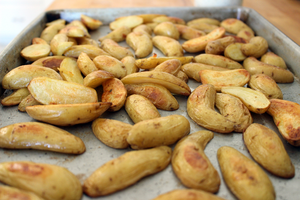 Browned on the outside and creamy on the inside roasted potatoes. Photo: Wendy Goodfriend