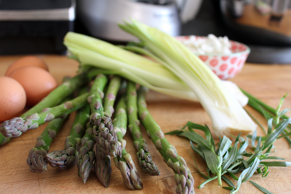 Springtime Frittata ingredients. Photo: Wendy Goodfriend