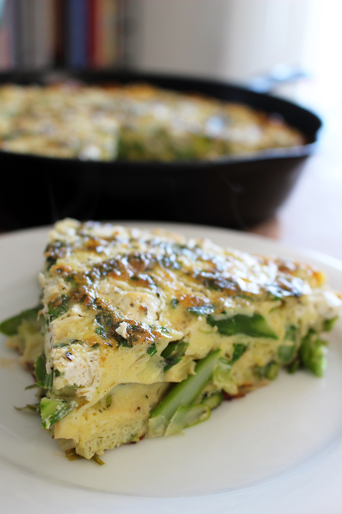 Springtime Frittata with Asparagus, Leeks, and Herbs. Photo: Wendy Goodfriend