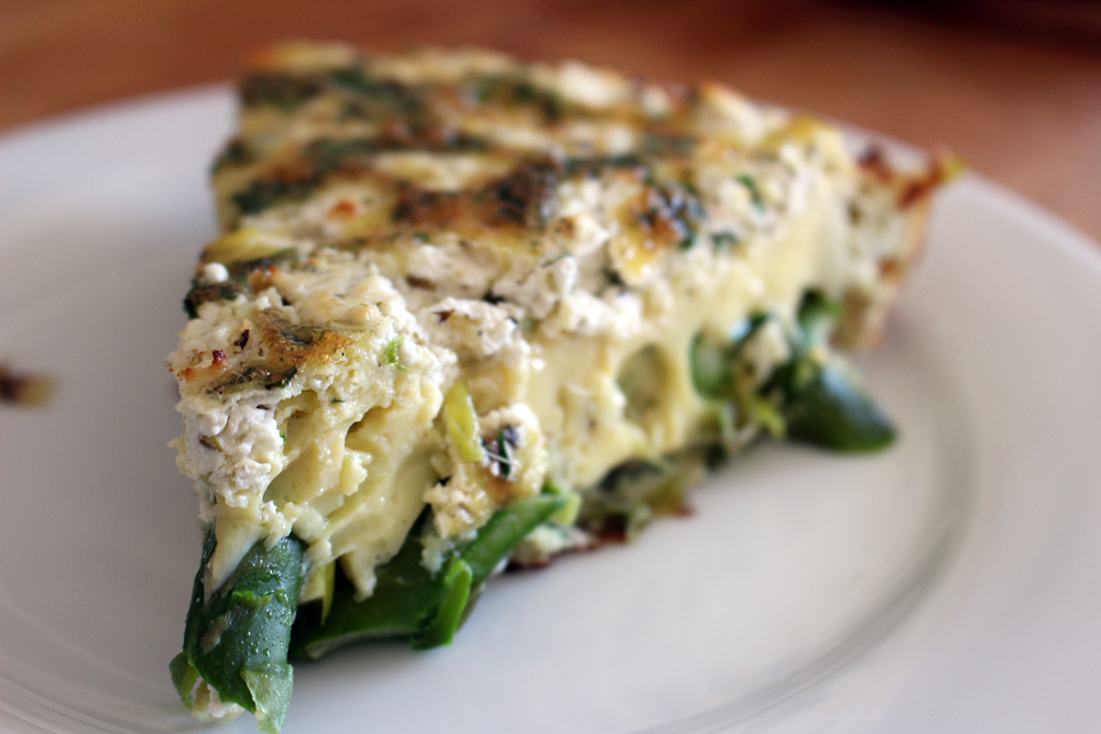 Springtime Frittata with Asparagus, Leeks, and Herbs | Bay Area Bites ...