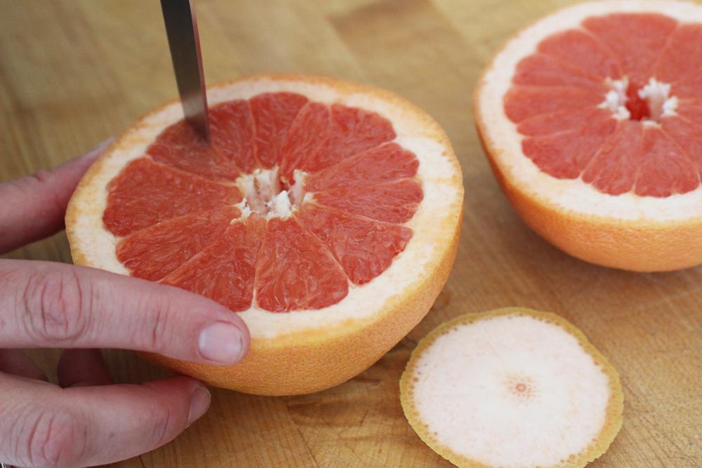 Slice grapefruit segments . Photo: Wendy Goodfriend