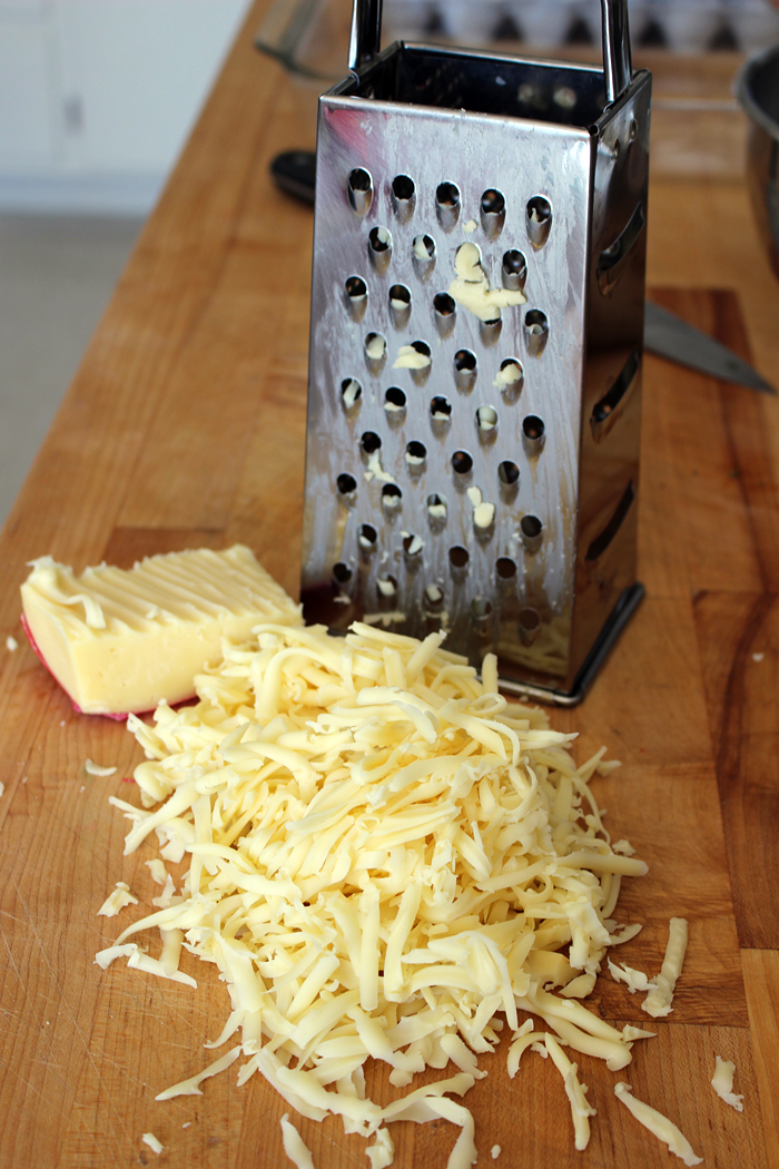 Grate cheese. Photo: Wendy Goodfriend