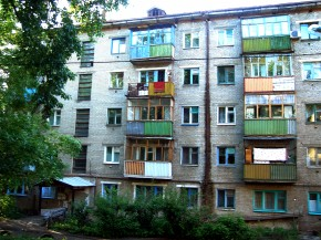 The exterior of Khrushchev-era apartments in Kazan, Russia. Photo: Untifler/Wikipedia