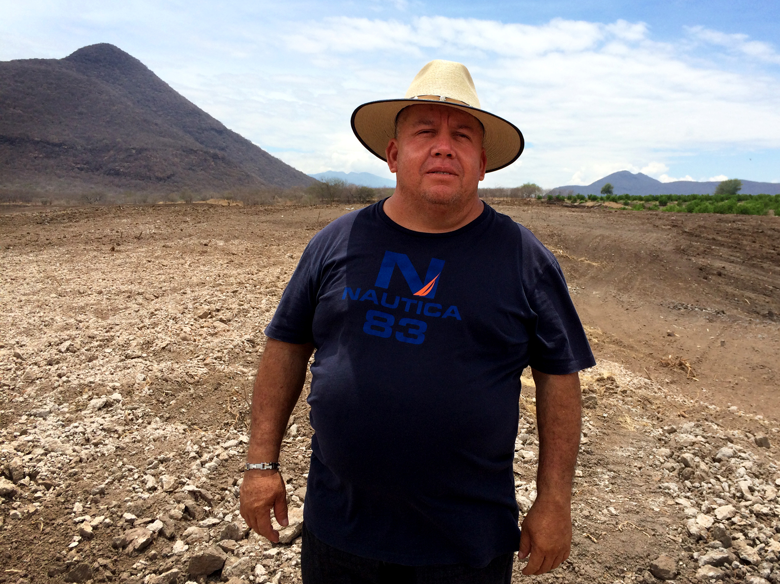 Farmer Efrain Hernandez Vazquez's profits this year will allow him to purchase 30 more acres and expand his lime operation. Photo: Carrie Kahn/NPR