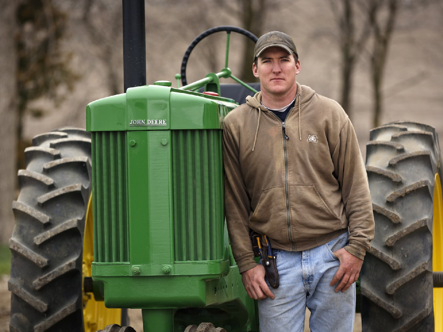 David Loberg's family farm in Carroll, Neb., is featured in the film Farmland. Photo: Don Holtz/Ketchum