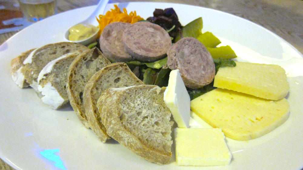 Liver Sausage and Butter Cheese Platter