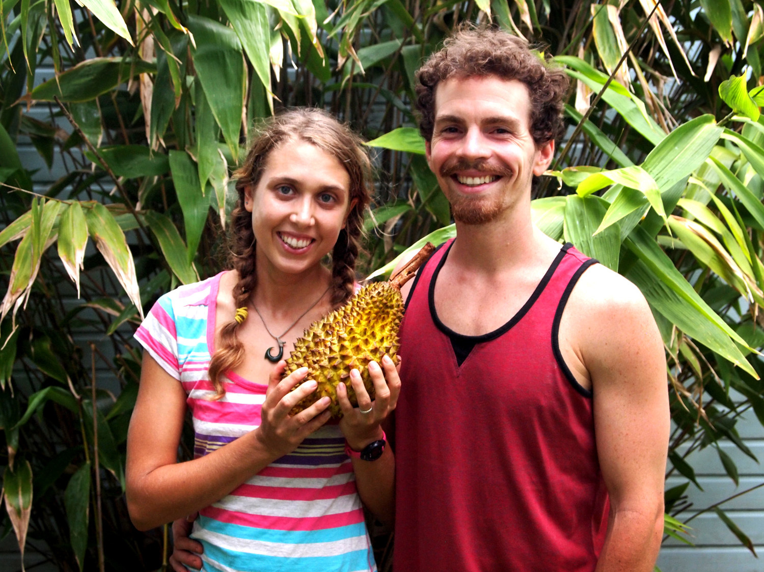 Lindsay Gasik and Rob Culclasure moved to Asia in 2012 to pursue durians. Photo: Courtesy of Lindsay Gasik