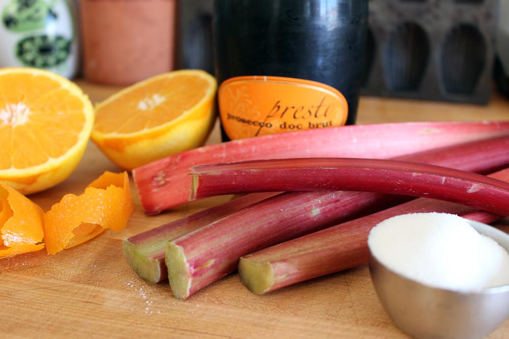 Rhubarb Fizz Cocktail ingredients. Photo: Wendy Goodfriend