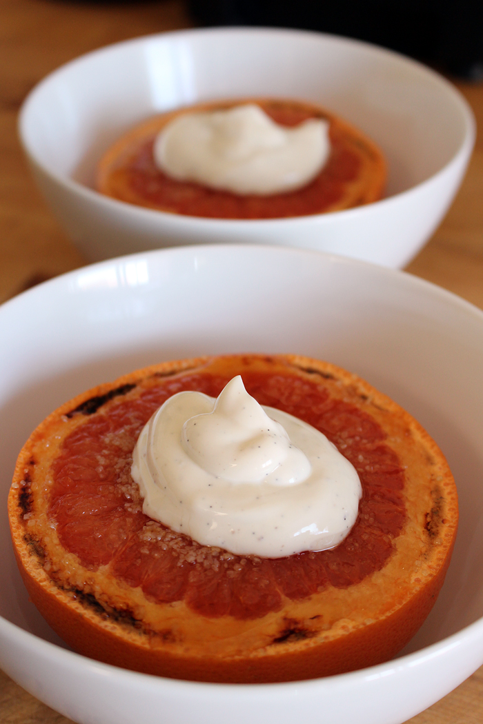 Brûléed Grapefruit with Vanilla Yogurt. Photo: Wendy Goodfriend