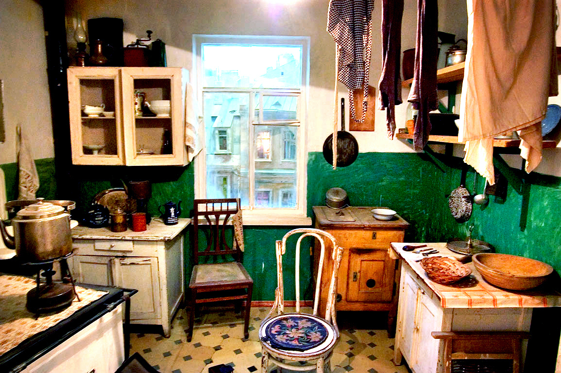A typical Russian kitchen inside an apartment built during the early 1960s when Nikita Khrushchev led the Soviet Union — what later became known as Khrushchev apartments. Photo: Courtesy of The Kitchen Sisters
