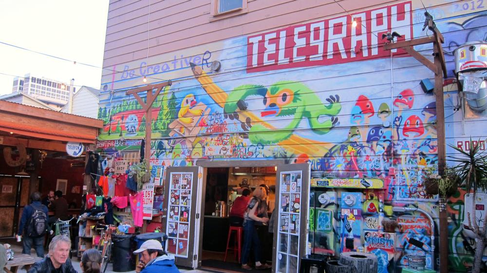 Telegraph Beer Garden Mural