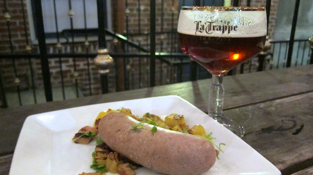 Mikeller Bratwurst at The Trappist Beer Cafe