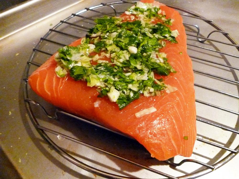 Prepped fresh raw salmon. Photo: Stephanie Rosenbaum Klassen