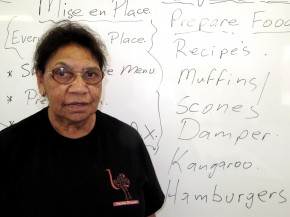 Aunty Beryl Van-Oploo heads Yaama Dhiyaan, the first cooking and hospitality training college for at-risk indigenous young people in Australia. Photo: The Kitchen Sisters