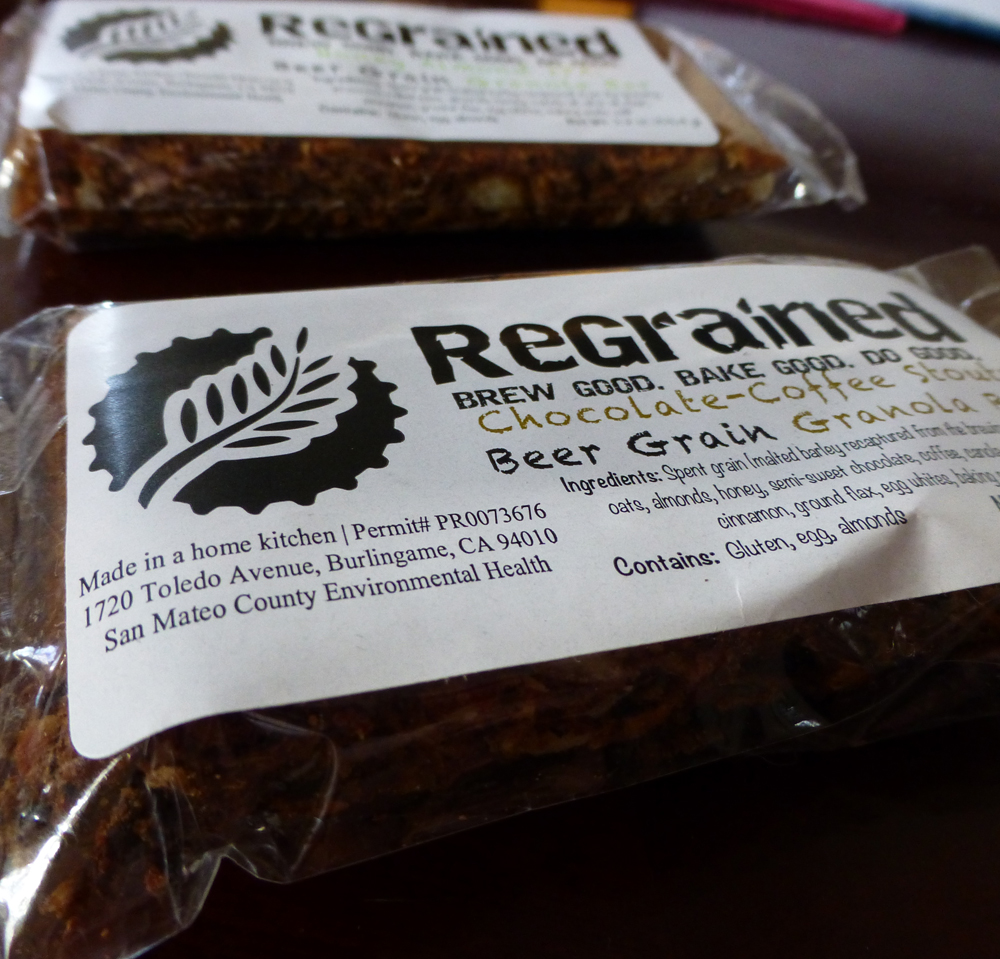 San Francisco's ReGrained makes granola bars from local breweries' leftover grain. Photo: Shelby Pope