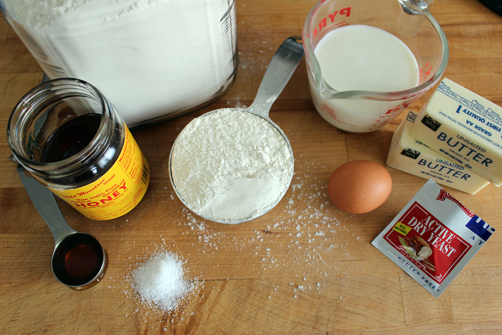 Ingredients for homemade burger buns. Photo: Wendy Goodfriend