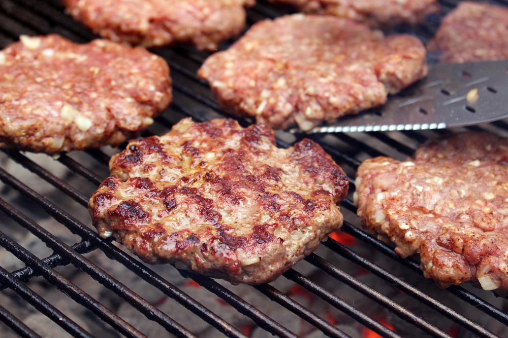 Cook burgers 3-4 min each side for medium rare
