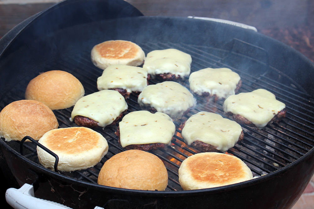 Place buns cut-side down on grill to toast