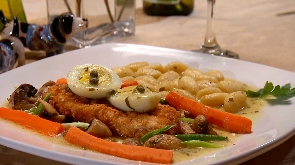 Chalet Ticino's Chicken Milanese with Gnocchi